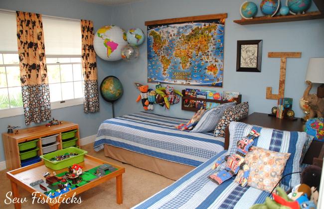 All Around The World Boys Room Fishsticks Designs Blog